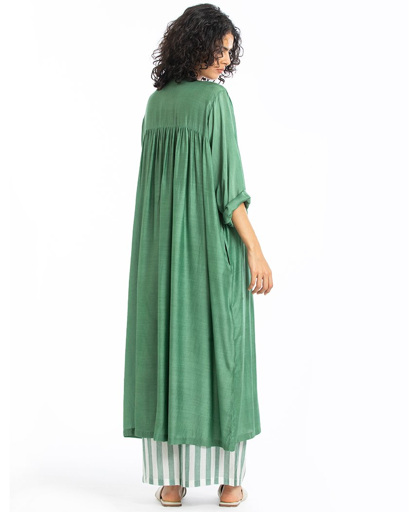 Gather Neck Dress