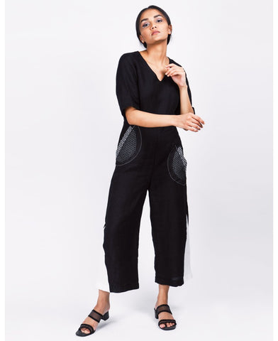 Black V Jumpsuit