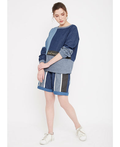 Denim Sweatshirt Set