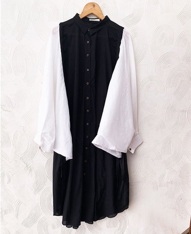 Monochrome Shirt Dress