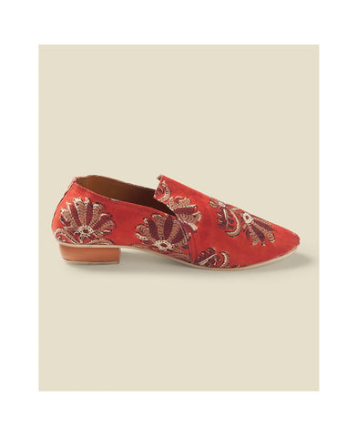 Crimson Printed Loafers