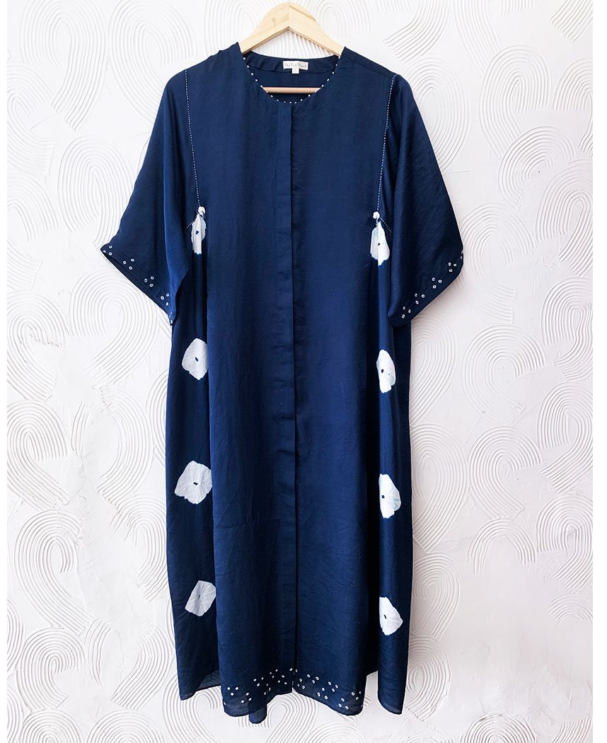 Indigo Silk Set