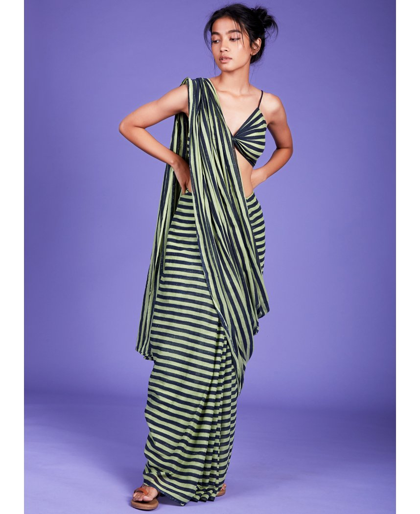 Striped Aakar Saree