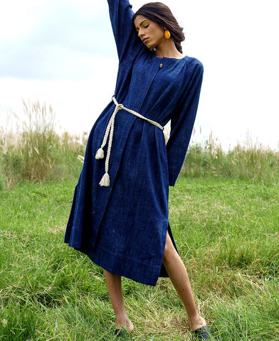 Prairie Denim Dress