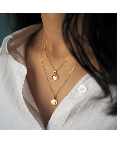 Ruby Amia Necklace