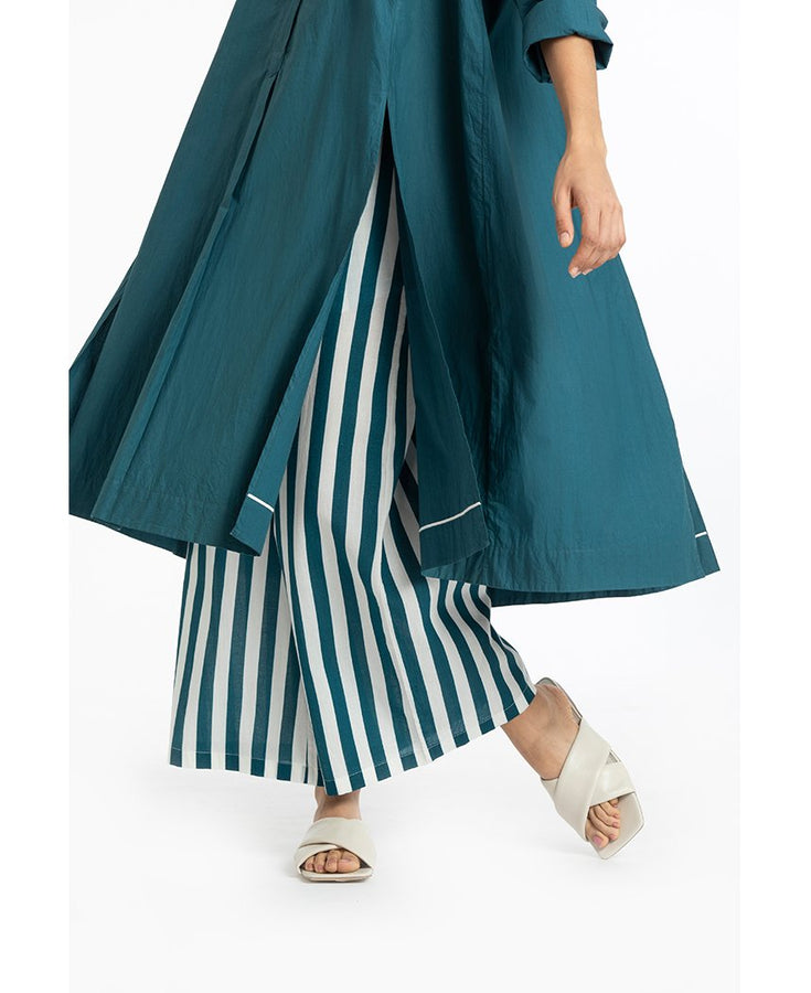 Teal Stripe Broad Bottoms