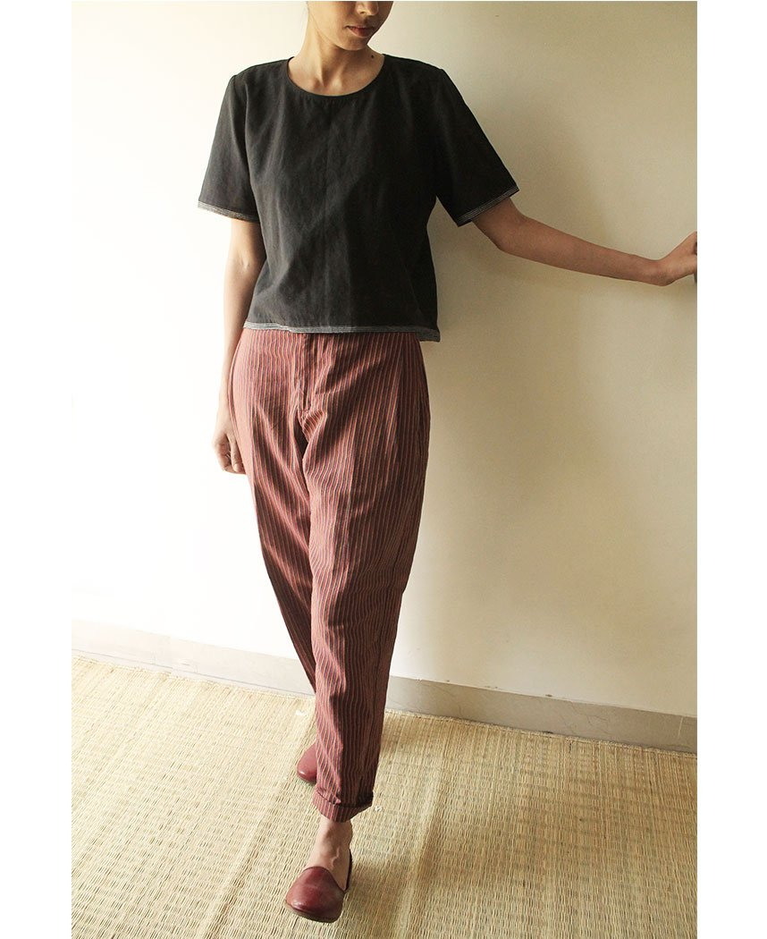 Side Pleat Pants