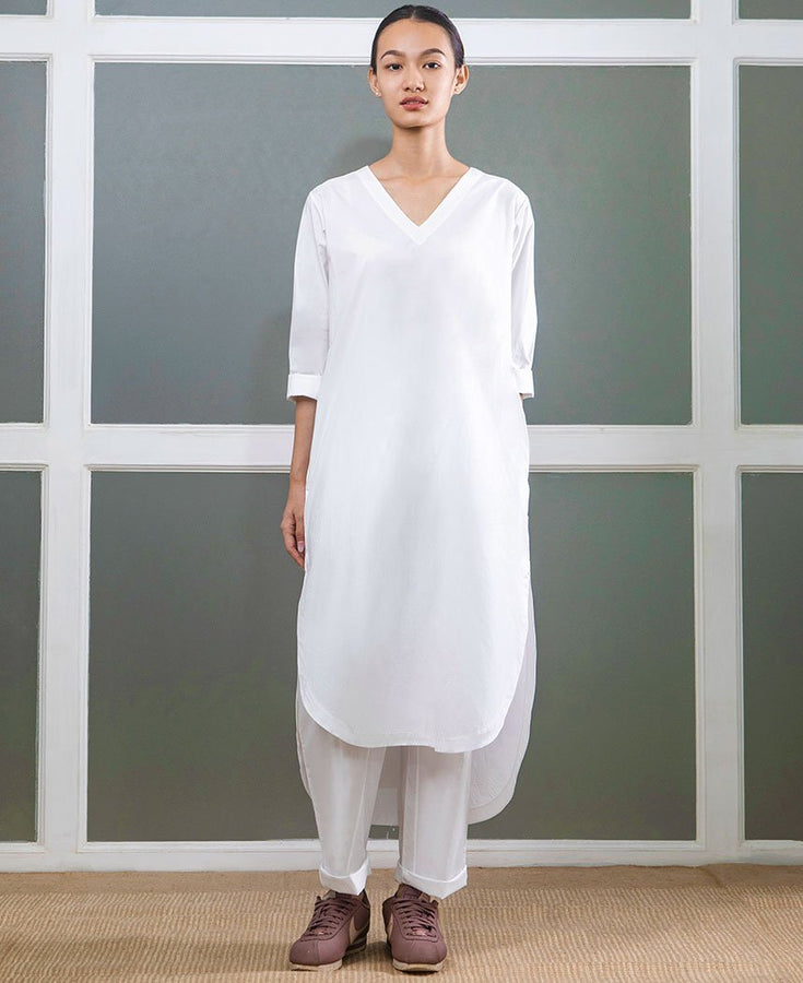 V Neck Kurta Set