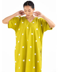 V Neck Kaftan Set