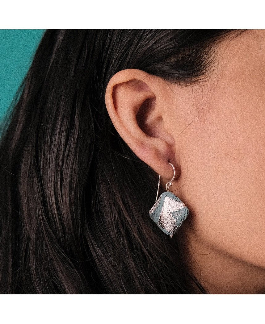 Blue Crater Earrings