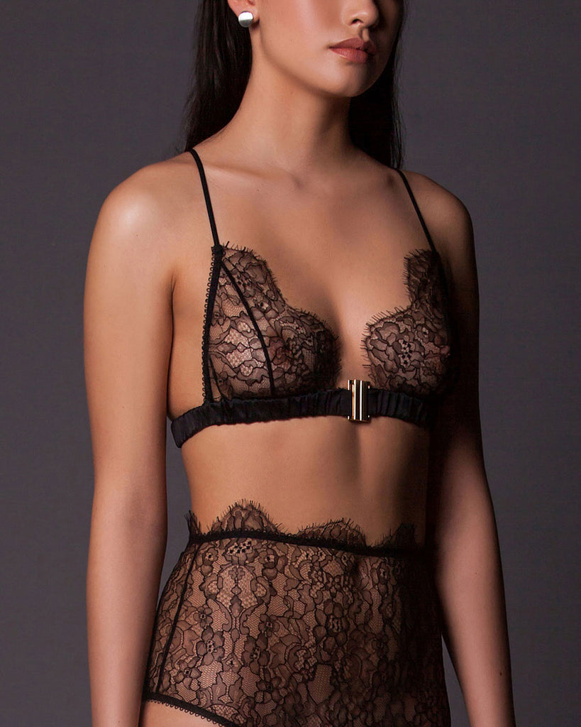 Ada Soft Cup Bra in Black Lace.