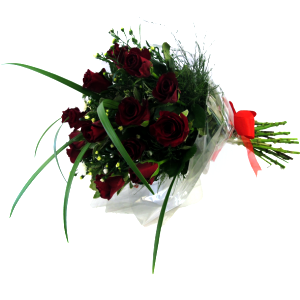 12 Red Roses in Wrap