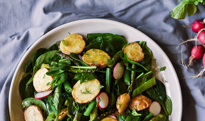 CRISPY POTATO, RADISH AND GREEN BEAN SALAD