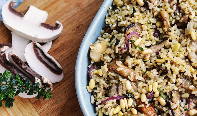 Mushroom Brown Rice Recipe