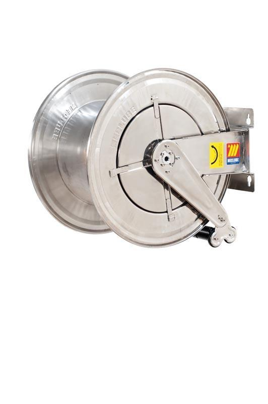 070-2608-600 - Stainless steel automatic hose reel AISI 304 fixed for diesel 10 bar Mod. FX-560 87 l/m without hose