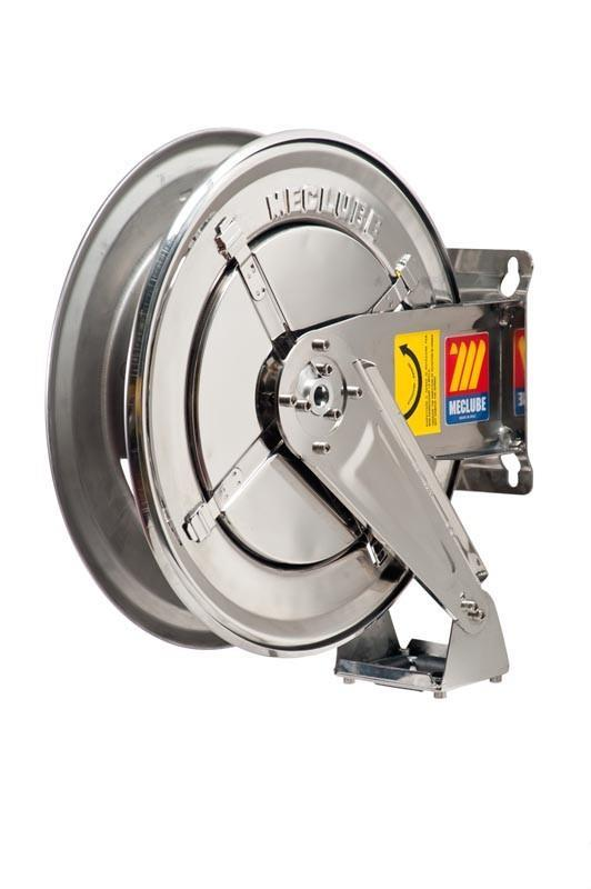 070-2209-400 - Stainless steel hose reel AISI 304 fixed for antifreeze - windscreen - adblue 20 bar Mod. FX-400 without hose