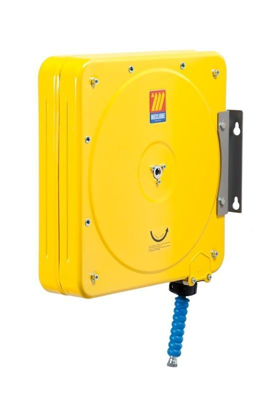 074-4504-210 - Closed hose reel varnished fixed for water 150°C 200 Mod. CF-500 with synthetic rubber hoses no trace blue 1SC 10M 5/16""