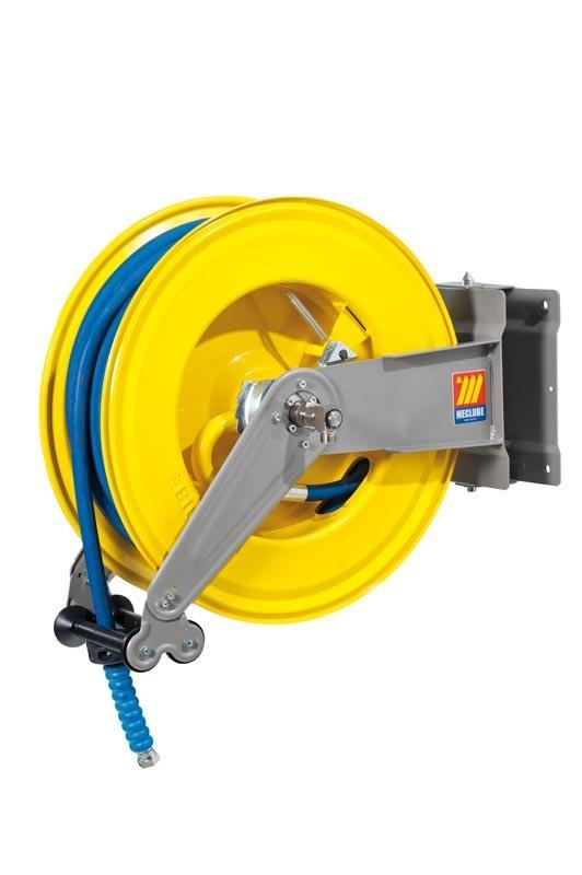 071-1504-425 - Automatic hose reel varnished swivelling for water 150°C 200 bar Mod. S-555 with hose 25M 1/2""