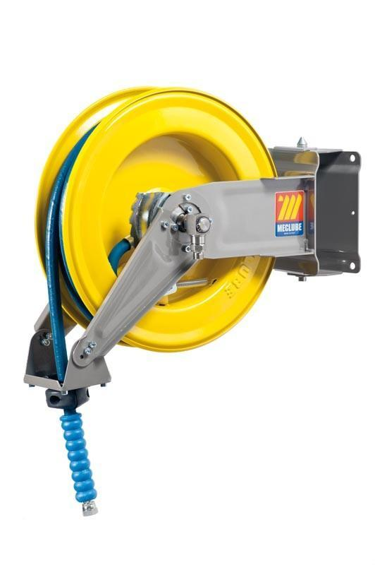 071-1205-410 - Automatic hose reel varnished swivelling for water 150°C 400 bar Mod. S-400 with hose 10M 1/2""