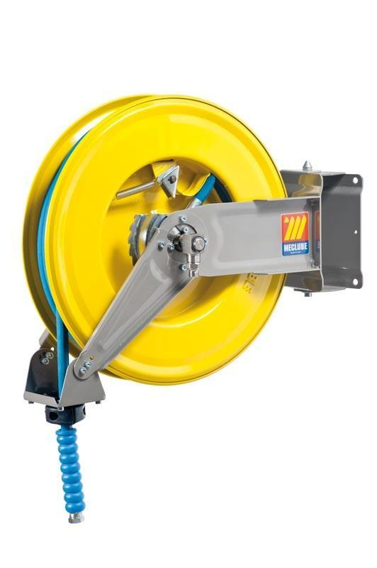 071-1305-415 - Automatic hose reel varnished swivelling for water 150°C 400 bar Mod. S-460 with hose 15M 1/2""