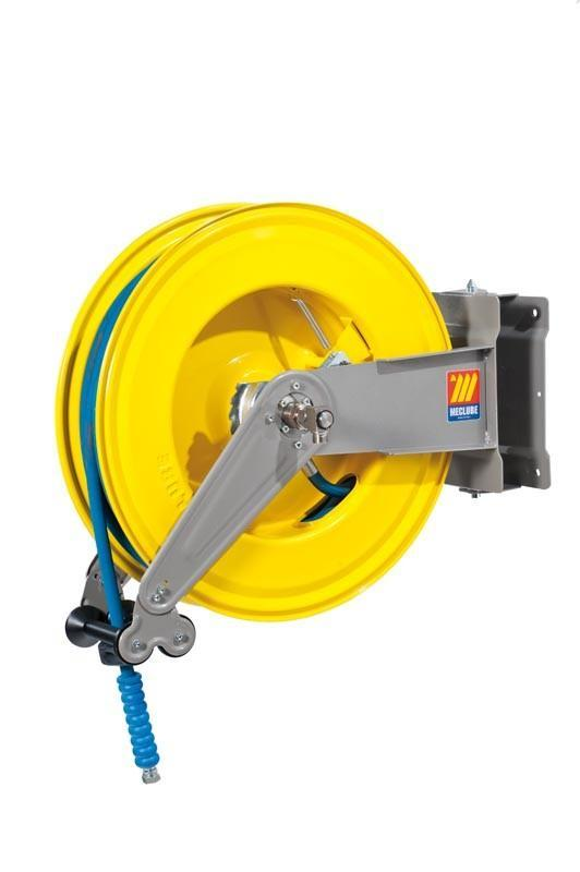 071-1405-420 - Automatic hose reel varnished swivelling for water 150°C 400 bar Mod. S-550 with hose 20M 1/2""