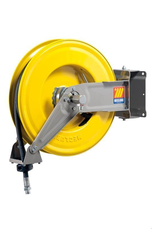 071-1306-415 - Automatic hose reel varnished swivelling for oil 160 bar Mod. S-460 with hose 15M 1/2""