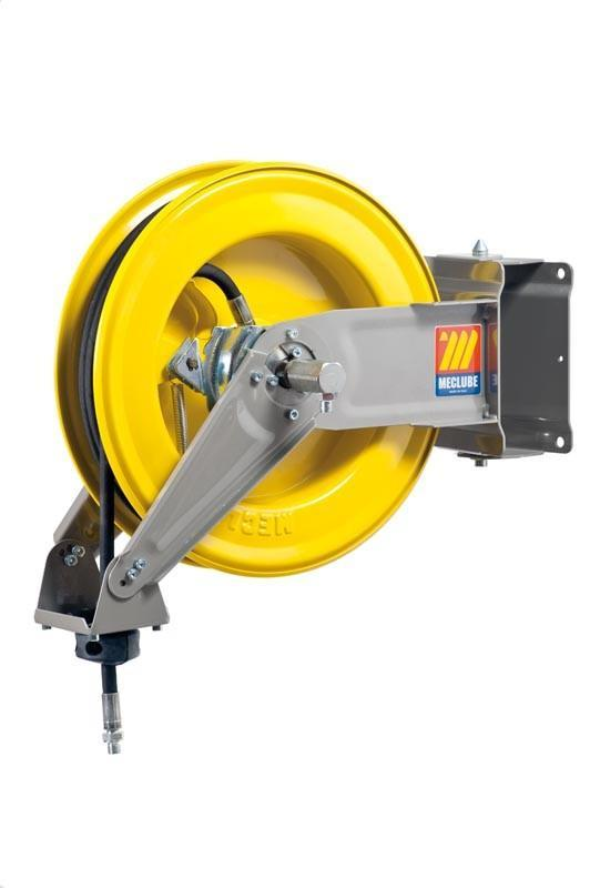 071-1207-110 - Automatic hose reel varnished swivelling for grease 600 bar Mod. S-400 with hose 10M 1/4""