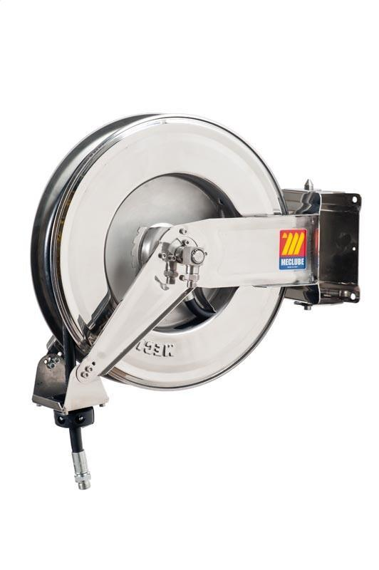 071-2302-418 - Stainless steel automatic hose reel AISI 304 swivelling for air-water 20 bar Mod. SX-460 with hose 18M 1/2""