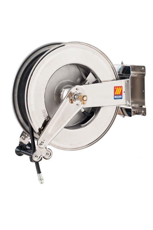 071-2502-520 - Stainless steel automatic hose reel AISI 304 swivelling for air-water 20 bar Mod. SX-555 with hose 20M 3/4""