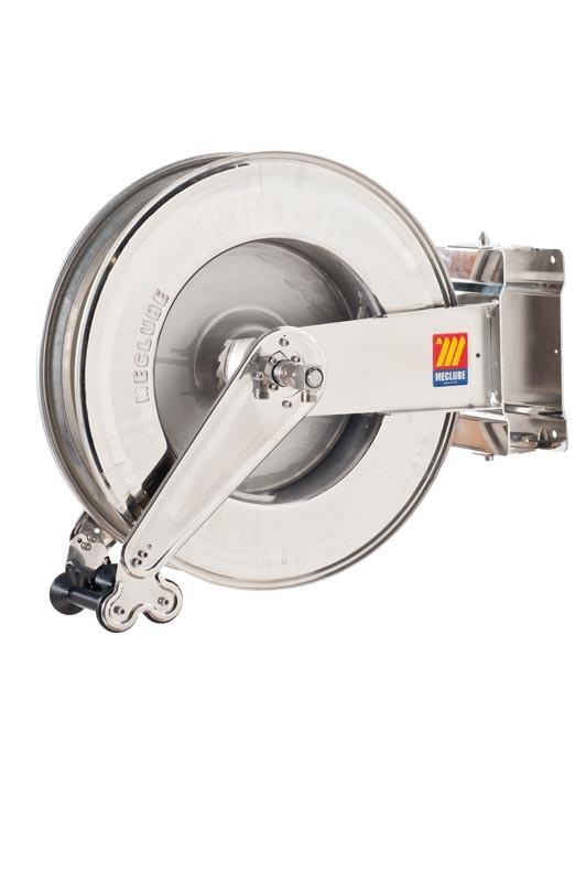 071-2408-600 - Stainless steel automatic hose reel AISI 304 swivelling for diesel 10 bar Mod. SX550 95 l/min without hose