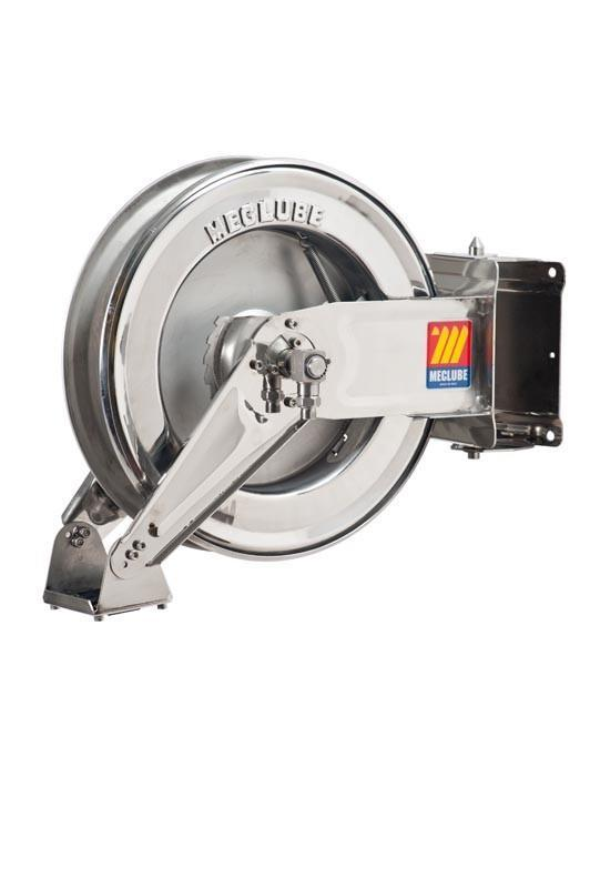 071-2205-300 - Stainless steel automatic hose reel AISI 304 swivelling for water 150°C 400 bar Mod. SX-400 without hose