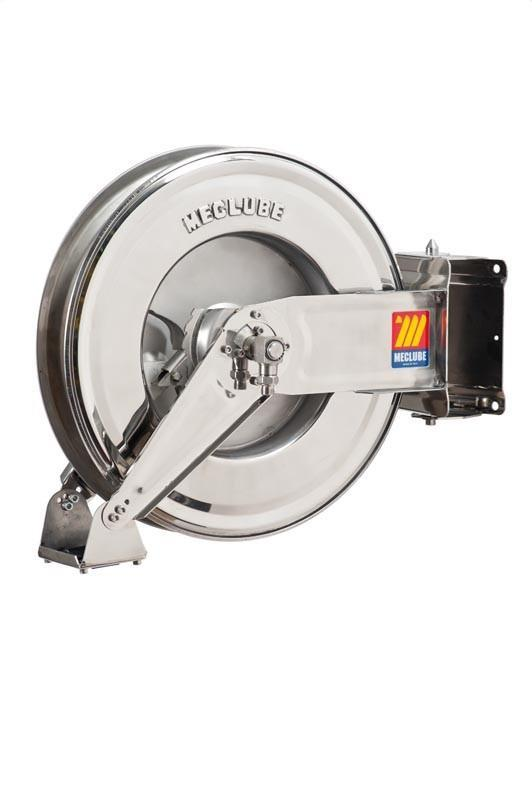 071-2305-300 - Stainless steel automatic hose reel AISI 304 swivelling for water 150°C 200 bar Mod. SX-460 without hose