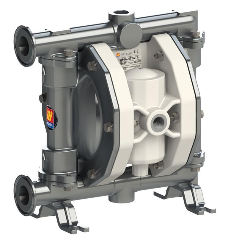 028-F110-AB1 - air operated double diaphragm pumps Mod.FOOD SS110 in stainless steel SS AISI 316 balls in SS AISI 316