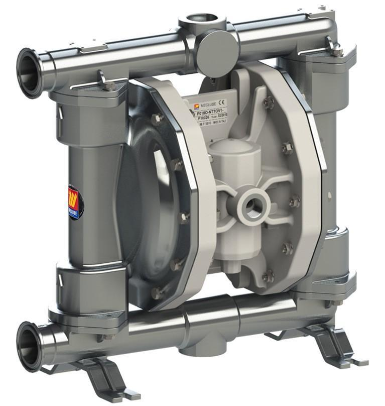 028-F170-AB1 - air operated double diaphragm pumps Mod.FOOD SS170 in stainless steel SS AISI 316 balls in SS AISI 316