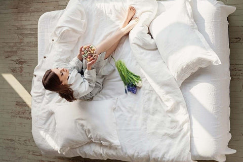 linen bedding, white linen duvet cover