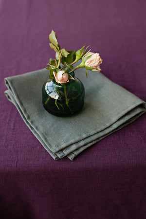 SET OF GREEN LINEN NAPKINS - Iconic Linen