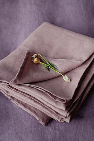 DUSTY ROSE LINEN FLAT SHEET - Iconic Linen