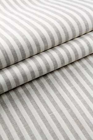 NATURAL STRIPED LINEN FABRIC - Iconic Linen