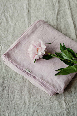BLUSH PINK LINEN FLAT SHEET - Iconic Linen