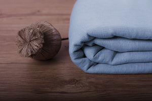BLUE SKY LINEN FABRIC - Iconic Linen