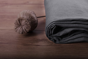 DARK GREY LINEN FABRIC - Iconic Linen