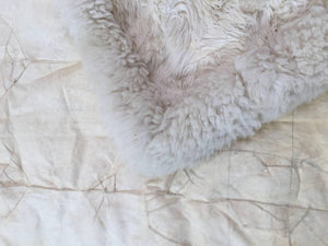 White Fluffy Sheep Skin Bed Throw or Rug
