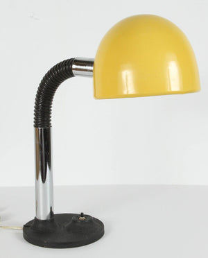 Modernist Enameld Yellow Desk Lamp