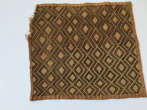 Handwoven Raffia Kuba Textiles from Congo Africa, Set of Three