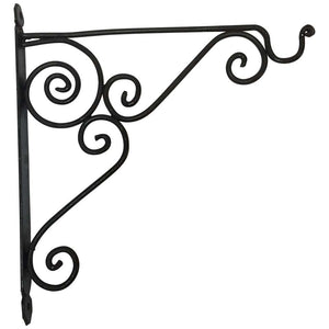 Wrought Iron Scrolling Wall Mounted Bracket for Lanterns or Signs