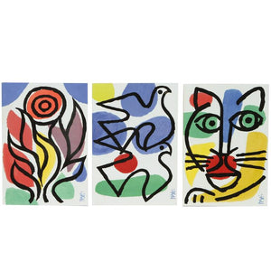 Celestino Piatti Ceramic Art Tiles Set of Three