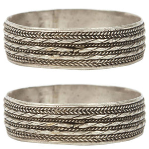 Pair of Moroccan Berber Tribal Bracelets