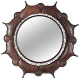 Moroccan Metal Handcrafted Round Outdoor Mirror