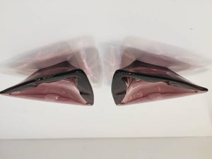 Vintage Moroccan Hazel Atlas Amethyst Triangle Pair of Ashtrays