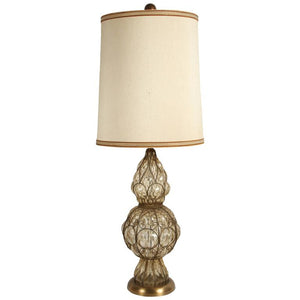 Murano Glass Italian Table Lamp by Marbro